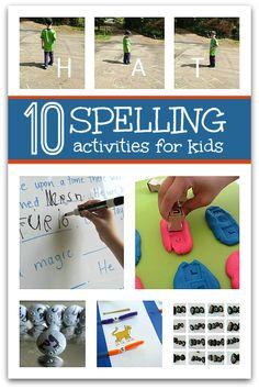 Fun ways to work on spelling .
