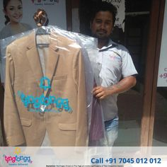 @Tingtongg helping @Vilvin Sabu keep those suits looking like new!  Call: +91 7045 012 012 today