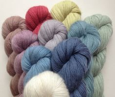 Soft and floaty, Quince & Co.'s new yarn Piper might make you fall in love with mohair in a whole new way. Blended with a 50% mix of merino this yarn has a smoother texture than brushed mohair ...