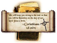 Bible Verses 1 Corinthians 1-8 He Will Keep You HD Wallpaper