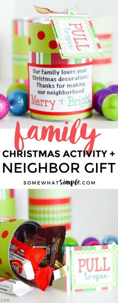Spread some holiday cheer with these Christmas Gifts for Neighbors - a fun treat in a can!
