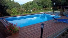 pool with patio Intex Pool, Backyard, Patio, Outdoor Living, Outdoor Decor, Pool Designs, Landscape Design, Swimming Pools, Deck
