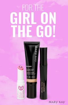 If you keep a busy schedule, this Flash & Dash set is made for you! Add a touch of color to your lips, a bit of lightweight coverage and SPF to your face, and some definition to your lashes before you hustle to your next activity. | Mary Kay