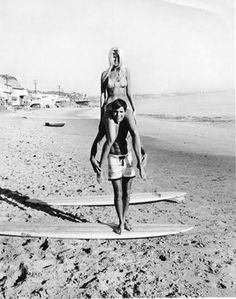 Miki Dora and Mary Hughes - Malibu