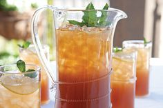 Summertime Peach Iced Tea INGREDIENTS: Fresh mint leaves 1 (11.3-ounce) can peach nectar 2 quarts cold water 8 teaspoons Summertime Earl Gre...
