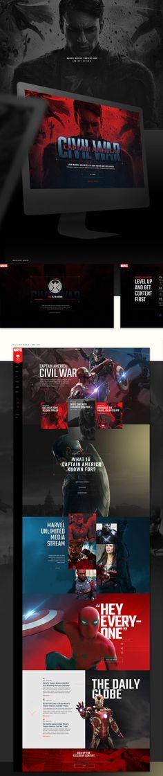 Captain-America1 #ui #ux#userexperience #website #webdesign #design