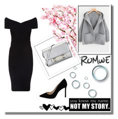 """Romwe Contest"" by nermina-okanovic ❤ liked on Polyvore featuring Maje, Jimmy Choo and Proenza Schouler"