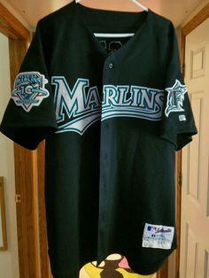 9048309c3 Game worn Ramon Castro 2003 Florida Marlins Russell jersey size 54  #FloridaMarlins Miami Marlins