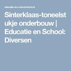 Sinterklaas-toneelstukje onderbouw | Educatie en School: Diversen