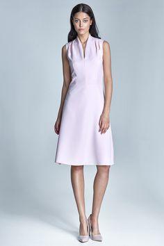 Sukienka Spring s74 - róż - nife_pl - Sukienki midi