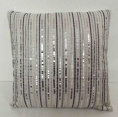 Hey, I found this really awesome Etsy listing at https://www.etsy.com/listing/154145102/white-sequins-stripe-cushions-in-size