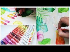 Leuke Technieken Met Ecoline Brushpennen - YouTube