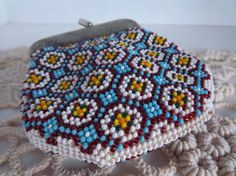 Vintage Native American Beaded Coin Change Purse
