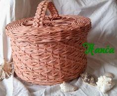 Návody - VZORY PLETENÍ :: Pletení z papíru Hanča Čápule Newspaper Crafts, Pattern Paper, Wicker Baskets, Creations, Knitting, Handmade, Diy, Basket Ideas, Hampers
