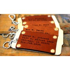 LilyDeal Four Customized Leather & Aluminum Bag Tags ($50) ❤ liked on Polyvore featuring bags, luggage, necklaces and silver Leather Cuffs, Leather Bag, Bags 2015, Leather Workshop, Leather Phone Case, Leather Projects, Leather Accessories, Necklaces, Bracelets