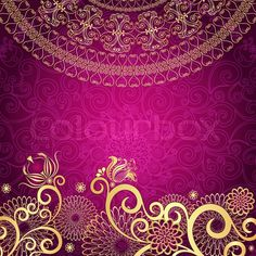 See Mandala Art Prints at FreeArt. Get Up to 10 Free Mandala Art Prints! Gallery-Quality Mandala Art Prints Ship Same Day. Pink And Gold Background, Indian Invitations, Arabic Design, Illustrations, Texture Design, Vintage Frames, Gold Flowers, Mandala Art, Purple Gold