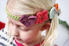 Crochet headband - cute for a little girl