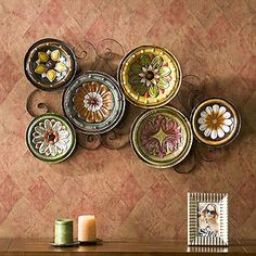 Beautiful Wall Art Made From Tuscan Plates Rebecca Jacobs Dining Room Deco