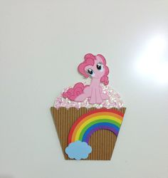 My Little Pony Invitation  Pinkie Pie Cupcake  by TheCraftyTees