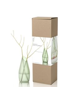 Weed Diffuser | This stunning 200ml frosted vase is mega-carbon friendly as it's made from glass that's been redesigned for second use. It comes boxed with a choice of luxury 100% essential oil. The oil is drawn through beautiful, natural twigs and diffused into the air, acting as a natural 'air freshener' lasting 6 - 9 weeks. www.bsab.com.sg