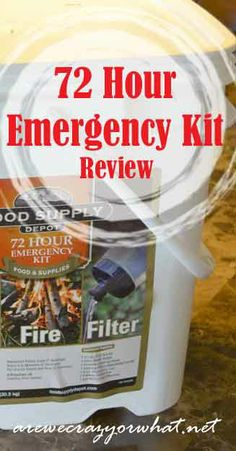 I review a popular prepackaged 72 hour emergency kit. #beselfreliant