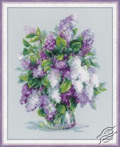 Gentle Lilac - Cross Stitch Kits by RIOLIS - 1447