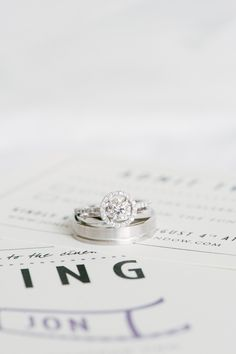 #Engagement Rings | See the wedding on SMP - http://www.StyleMePretty.com/new-jersey-weddings/jersey-city/2014/01/02/liberty-house-wedding/ Brklyn View Photography