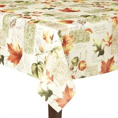 One of my favorite discoveries at ChristmasTreeShops.com: Postage Leaves Tablecloth