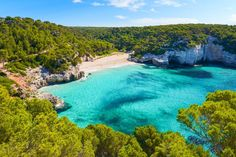 Bask in sunshine on a beautiful beach in Spain! Smaller than Mallorca, quieter than Ibiza, Menorca is perfect for a yoga retreat. Most Beautiful Beaches, Beautiful Places, Amazing Destinations, Travel Destinations, Ibiza, Best Beaches In Europe, Photos Bff, Balearic Islands, Landscape Pictures