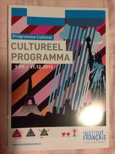 Brochure van Institut Français over jaarlijkse agenda/programma