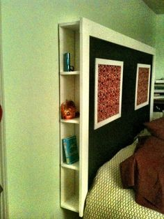 diy headboard with shelves diy storage headboard diy headboard with storage arlene designs ideas diy headboard shelf ideas Diy Storage Headboard, Headboard With Shelves, Headboards For Beds, Headboard Ideas, Budget Bedroom, Home Bedroom, Bedroom Decor, Bedroom Ideas, Bedroom Makeovers