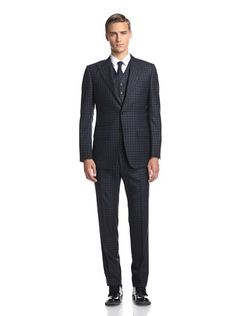 www.myhabit.com Slim fit tailored check wool, 3-button closure, 3a7bdc7ca8