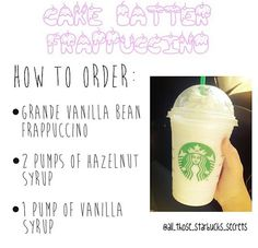 Secret menu- cake batter frappacino!
