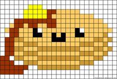 Kandi Patterns for Kandi Cuffs - Food Pony Bead Patterns Pixel Art Templates, Perler Bead Templates, Diy Perler Beads, Perler Bead Art, Melty Bead Patterns, Pearler Bead Patterns, Perler Patterns, Beading Patterns, Kandi Patterns