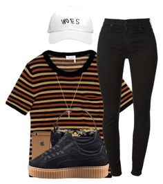 """Love On The Brain x Rihanna."" by myia-bored-ass ❤ liked on Polyvore featuring Sonia Rykiel, 7 For All Mankind, Gucci, Valentino, Puma and October's Very Own"