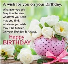 Celebrate your loved one's birthday by sending him/her warm greetings. Celebrate your loved one's birthday by sending him/her warm greetings. Religious Birthday Wishes, Christian Birthday Wishes, Birthday Greetings For Women, Beautiful Birthday Wishes, Birthday Wishes Flowers, Happy Birthday Wishes Images, Happy Birthday Celebration, Birthday Wishes Messages, Happy Birthday Wishes Quotes