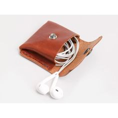 No. 424 Coin/Headphone Pouch, Tan Billykirk ($49) ❤ liked on Polyvore featuring bags, wallets, coin purse, white leather wallet, leather coin pouch, leather change purse and tan leather wallet