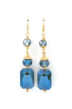 Vitrail Kira Earrings in Sapphire on Emma Stine Limited