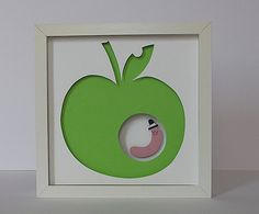 worm + apple