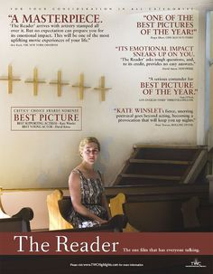 ''The Reader'' 2008 U.S for your consideration poster. Posters Amazon, Information Poster, Original Movie Posters, Ebay Search, Poster On, Cool Pictures, Consideration