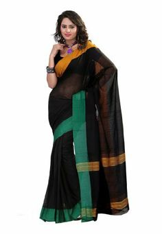 Fabdeal Indian Designer Black Cotton Plain Saree Fabdeal, http://www.amazon.de/dp/B00IL76YL8/ref=cm_sw_r_pi_dp_AE8otb1FRJK3V