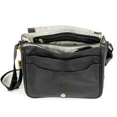 555e2c84801eb Hamosons – Damen-Handtasche Größe M   Umhängetasche im Retro-Look aus Nappa- Leder