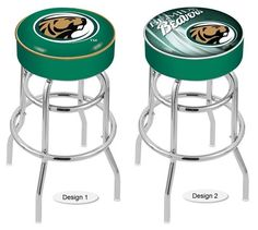 The NCAA officially licensed Bemidji State Beavers Bar Stool has a 4-inch cushion with a tough double-ring base and a chrome finish. Free shipping. Visit sportsfansplus.com for details.