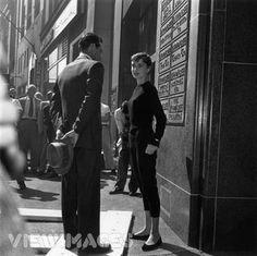 Audrey Hepburn in her classic casual look.