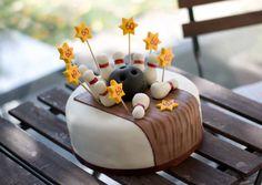Birthday cake, bowling
