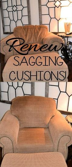 Perk up your furniture by renewing those saggy cushions! Its easy and inexpensive! Tutorial on site!