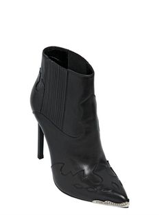"BOTTINES ""PARIS"" EN CUIR 115MM"