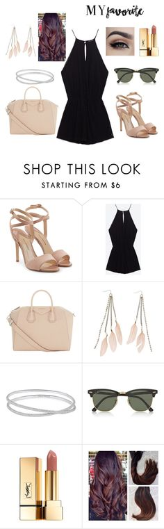 """Untitled #33"" by kristina2001 on Polyvore featuring Paul Andrew, Givenchy, Charlotte Russe, Maison Margiela, Ray-Ban and Yves Saint Laurent"