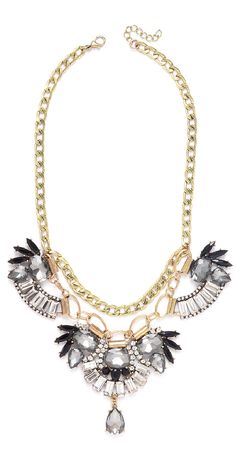 This statement necklace is a perfect combo of glam and edgy!
