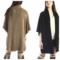 CLASSIC KIMONO POCKET CARDIGAN-BLACK ONLY This look is sleek and classy. Goes with anything, right from work to the theatre. Very comfortable. BLACK ONLY. Acrylic. Fits 6-16 best. NWOT.                                                                                 PLEASE DO NOT BUY THIS LISTING.                             I will make you a personal listing. tla2 Jackets & Coats
